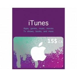 گیفت کارت آیتونز 15 دلاری کانادا + اسکن