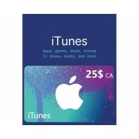 گیفت کارت آیتونز 25 دلاری کانادا + اسکن