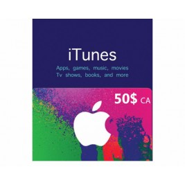 گیفت کارت آیتونز 50 دلاری کانادا + اسکن
