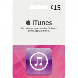 گیفت کارت آیتونز 15 پوند انگلیس + اسکن