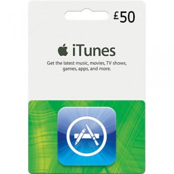 گیفت کارت آیتونز 50 پوند انگلیس + اسکن