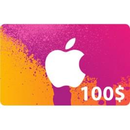 گیفت کارت آیتونز 100 دلاری امریکا + اسکن