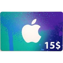 گیفت کارت آیتونز 15 دلاری امریکا + اسکن