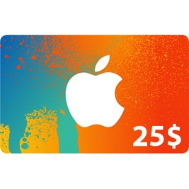 گیفت کارت آیتونز 25 دلاری آمریکا + اسکن