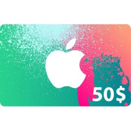 گیفت کارت آیتونز 50 دلاری آمریکا + اسکن
